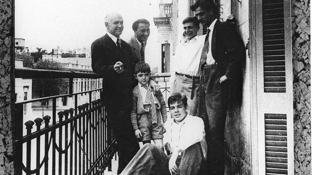 Foto del Che en su casa de Palermo, Argentina
